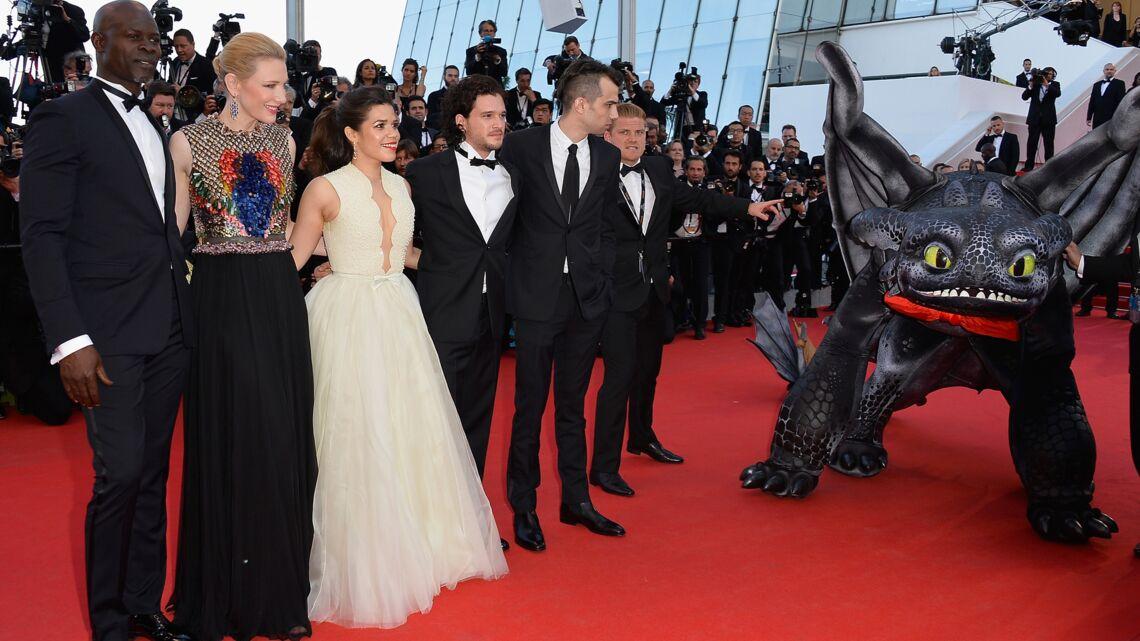Cannes 2014– Cate Blanchett, Amercia Ferrera et leur dragon