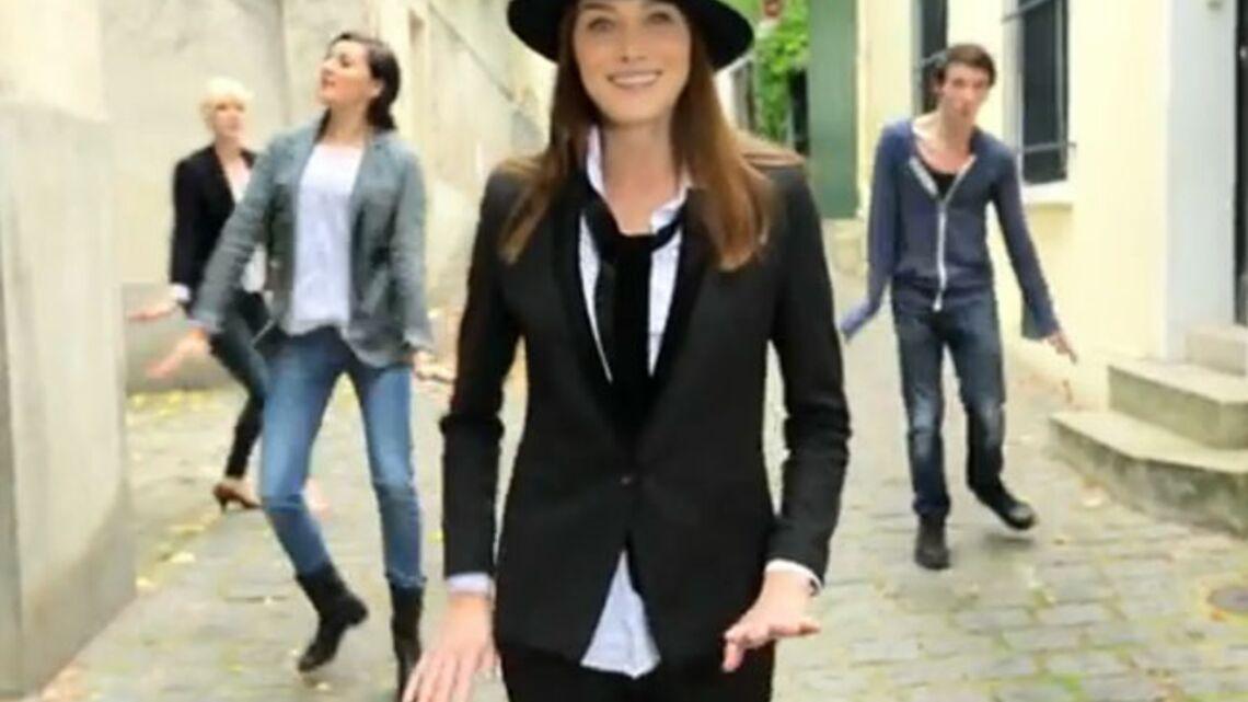 Vidéo – Carla Bruni fait la danse des pingouins