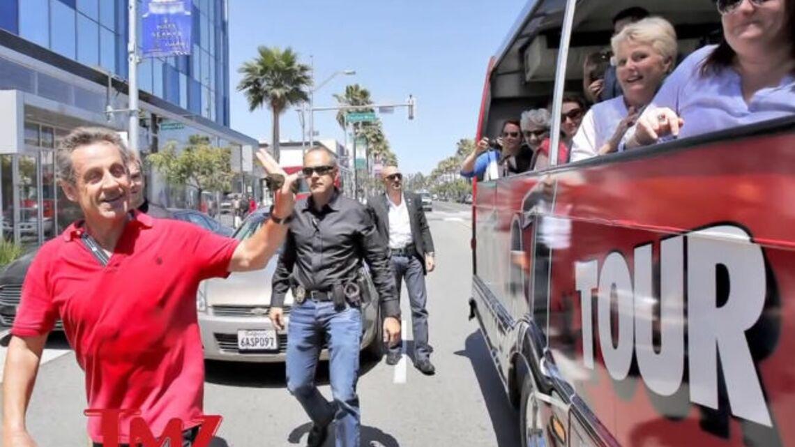 Vidéo- Nicolas Sarkozy, aperçu à Beverly Hills en plein footing