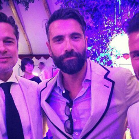 Brad Pitt et David Beckham: selfie entre copains au mariage de Guy Ritchie