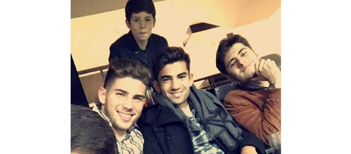 Les quatre fils Zidane aux premières loges pour encourager leur papa