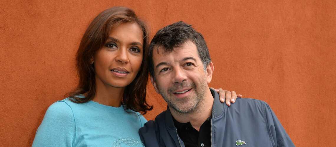 Stéphane Plaza et Karine Le Marchand complices à Roland Garros