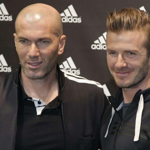 Photos- David Beckham et Zinedine Zidane font le show