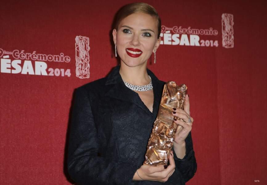 Scarlett Johansson, césar d'honneur de la 39e cérémonie