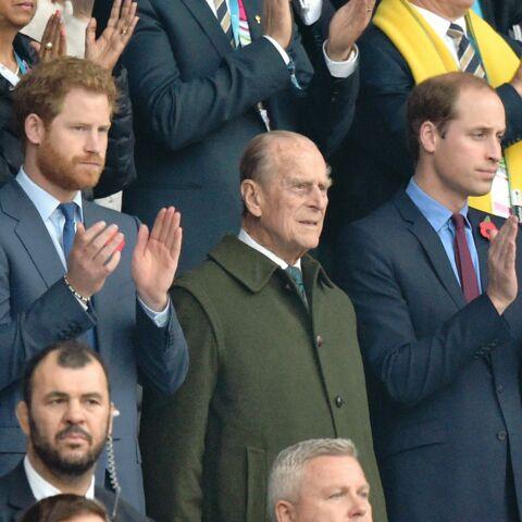 William, Harry et Philip, entre hommes pour le sacre des All Blacks