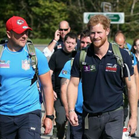 Le Prince Harry rejoint The Walk of Britain
