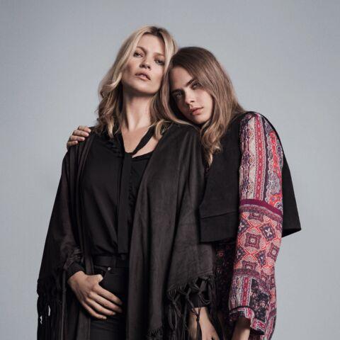 Kate Moss et Cara Delevingne, duo complice pour Mango