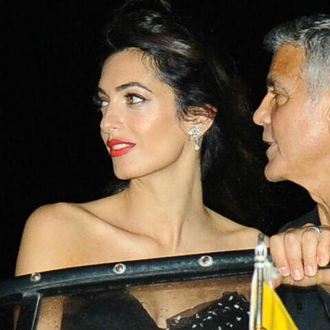 PHOTOS – Amal Clooney fabuleuse à Venise après la naissance des jumeaux