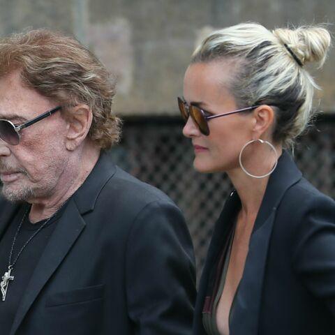 PHOTOS – Obsèques de Mireille Darc: Johnny Hallyday et Laeticia sont rentrés de St Barth