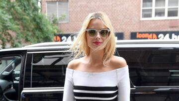 Margot Robbie, les rayures du style