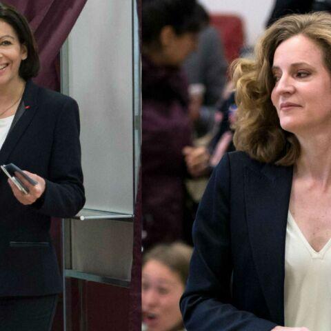 Photos- Municipales: Anne Hidalgo et Nathalie Kosciusko-Morizet ont voté