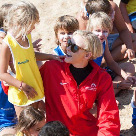 Photos – La princesse Charlène se jette à l'eau pour les enfants