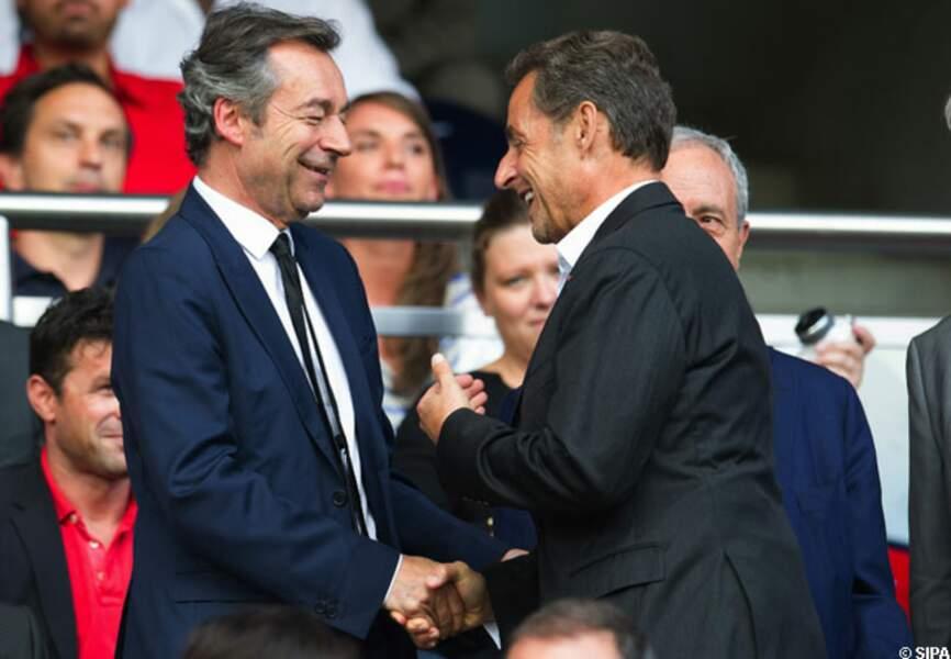 Michel Denisot et Nicolas Sarkozy