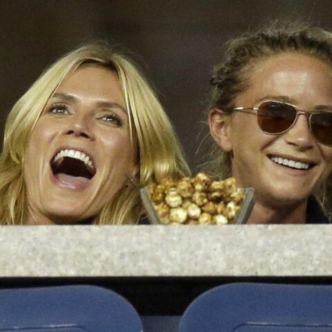 Heidi Klum et Mary-Kate Olsen supportrices de charme à l'US Open