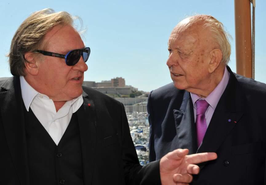 Gérard Depardieu et Jean-Claude Gaudin
