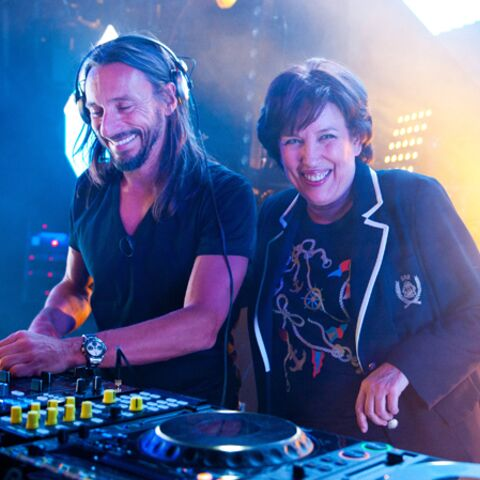 Photos- Roselyne Bachelot incroyable DJ pour Bob Sinclar