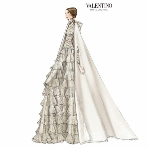 Tatiana Casiraghi, la mariée était en Valentino