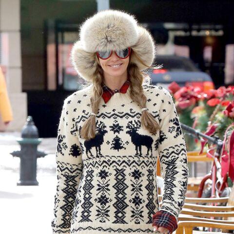 Elle Macpherson, the body fait du ski