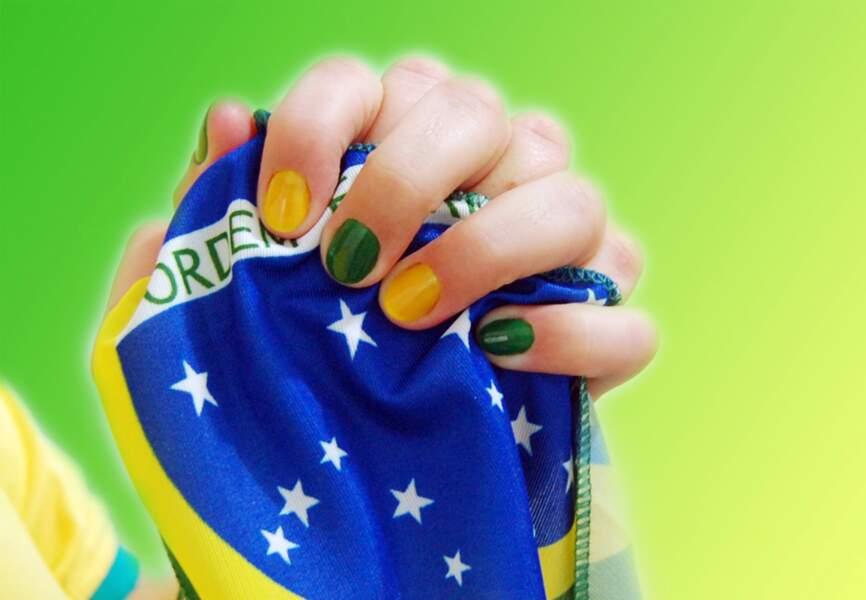 Des ongles aux couleurs du Brésil