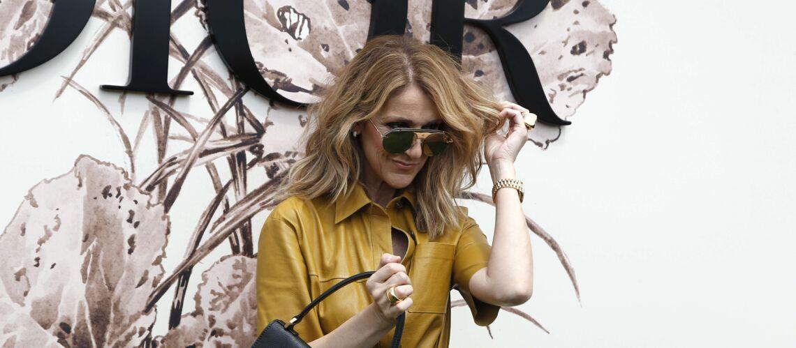 PHOTOS – Céline Dion assiste au défilé Dior en robe chemise et sans soutien-gorge
