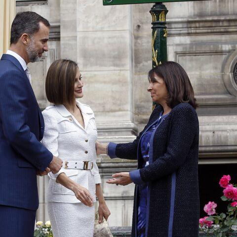 Letizia et Felipe d'Espagne: moment d'émotion avec Anne Hidalgo