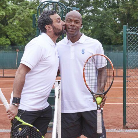 Photos – Cyril Hanouna, Sylvain Wiltord et Cyrille Eldin jouent à Roland Garros!