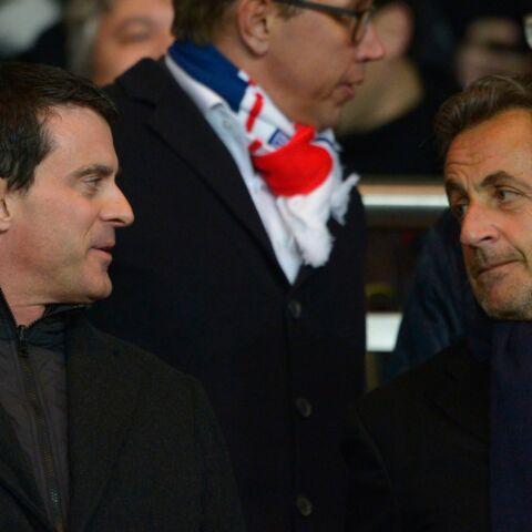 PSG-OM: Nicolas Sarkozy et Manuel Valls, le match dans les tribunes