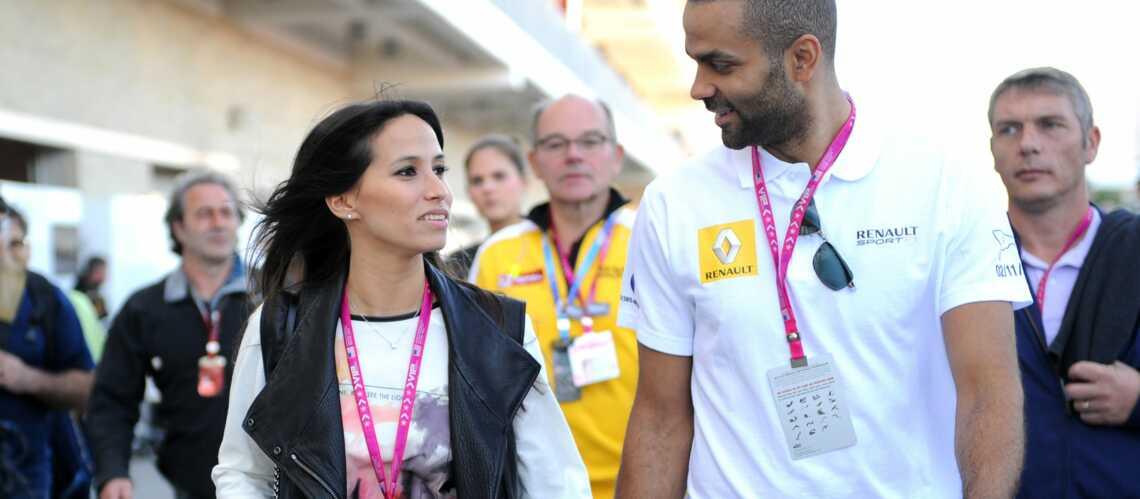 Tony Parker et sa femme Axelle dans le paddock de la F1