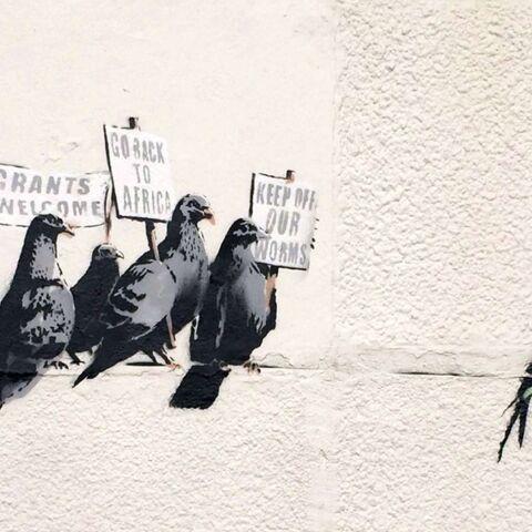 La police détruit une œuvre de Banksy