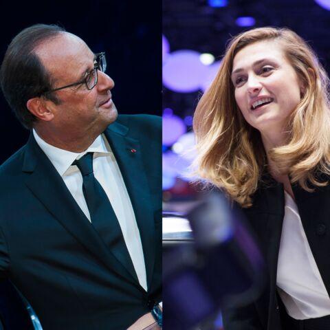 Julie Gayet et François Hollande au salon de l'Auto