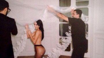 Kim Kardashian, topless pour Riccardo Tisci