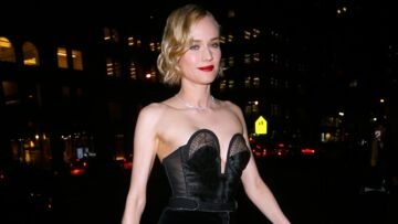 PHOTOS – Diane Kruger: ultra canon avec une bouche rouge et un look rétro