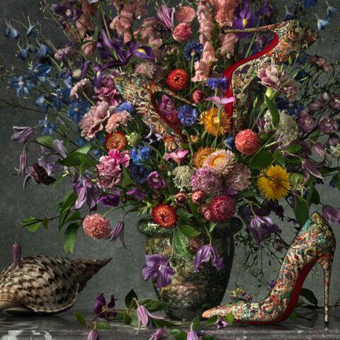 Photos – Les tableaux fleuris de Louboutin