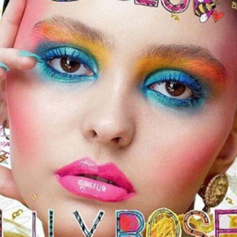 Maquillage outrancier pour Lily,Rose Depp