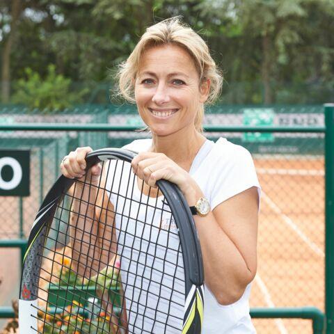 Anne-Sophie Lapix sexy tenniswoman au Trophée des Personnalités