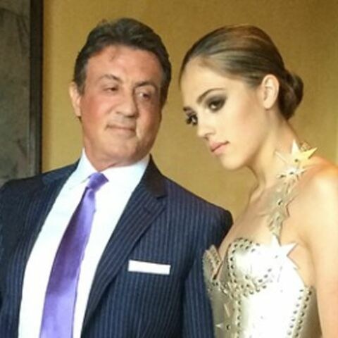 Sylvester Stallone présente sa fille Sistine
