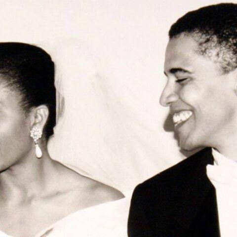 Barack Obama fête ses noces d'opale sur la Toile