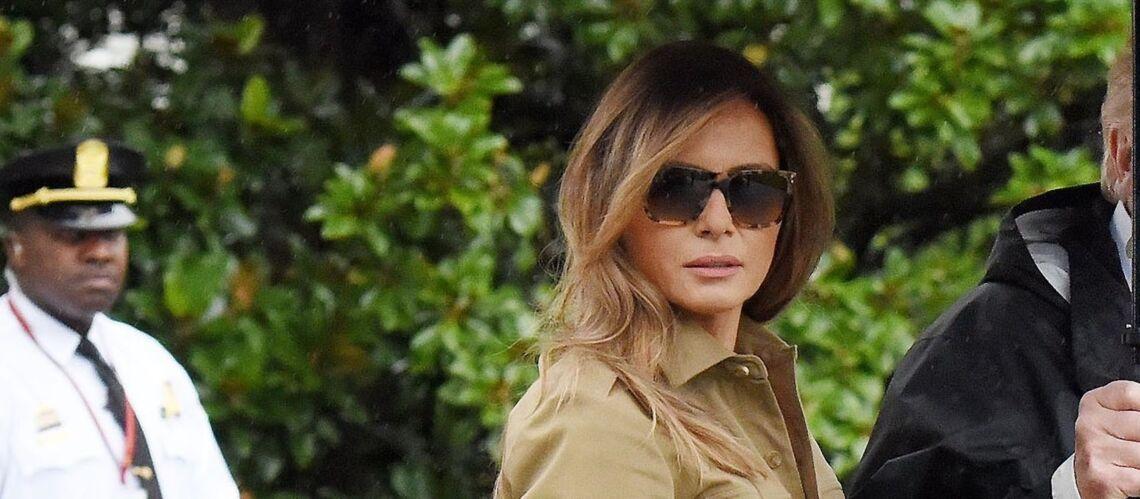PHOTOS – Le détail qui tue: Melania Trump, encore en talons hauts pour sa visite aux victimes de l'ouragan Harvey malgré les critiques