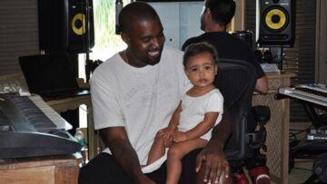 Kanye West et North West en studio