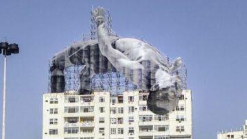 Le street artist français JR décore Rio pour les JO