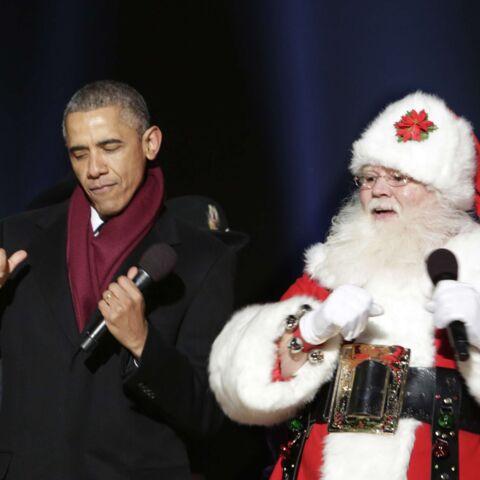 Quand Barack Obama danse avec le Père Noël