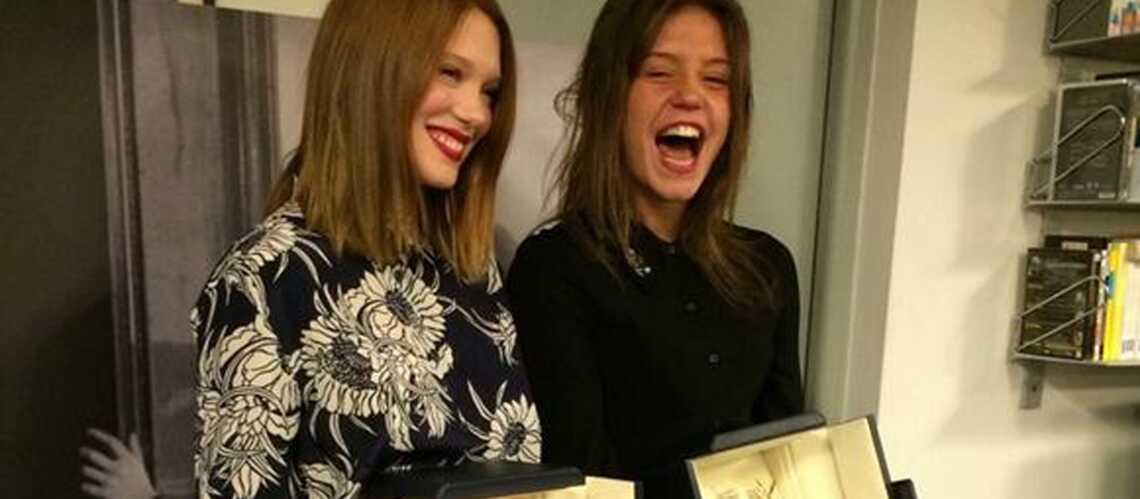 Photos- Léa Seydoux et Adèle Exarchopoulos reçoivent (enfin) leur Palme