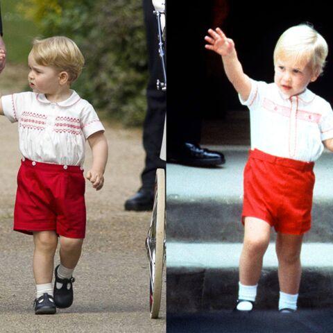 Prince George et prince William: copié-collé
