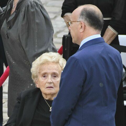 PHOTOS – Bernadette Chirac très affaiblie aux obsèques de Simone Veil
