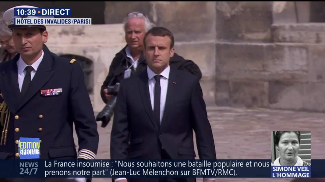 Obsèques de Simone Veil : le chef de l'Etat Emmanuel Macron va prononcer un discours