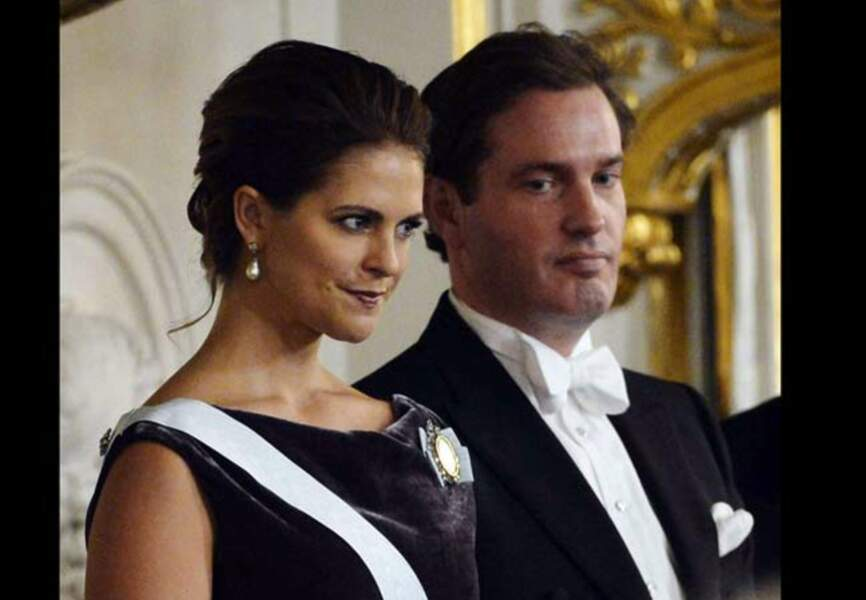 Madeleine et son fiancé en décembre 2012