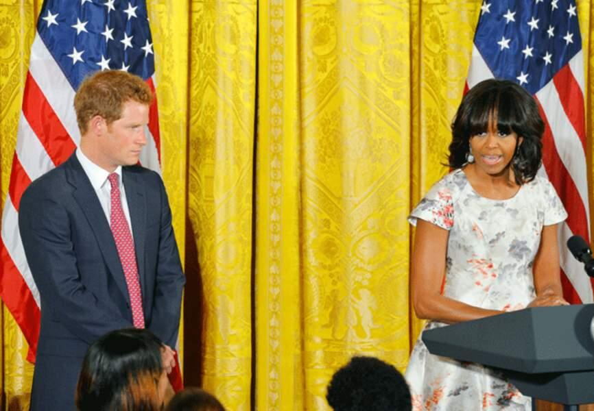 Surprise! Le prince Harry à la Maison-Blanche.