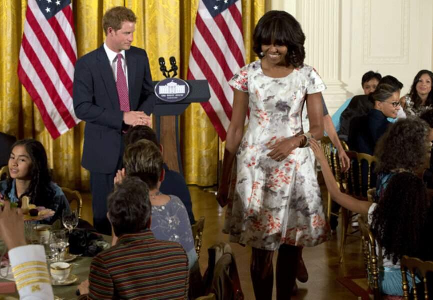 Michelle Obama est ravie de son effet de surprise