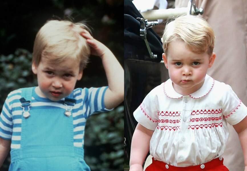 Mêmes bouilles, mêmes mimiques, baby George est le sosie de son père au même âge