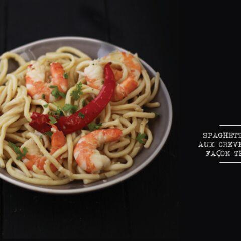 Spaghettoni aux crevettes façon Thaï